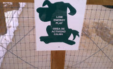 The sign for the low energy section of  Kennedy Dog Park